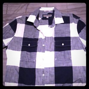 Express plaid buttoned shirt